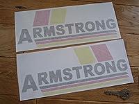 Armstrong Yellow, Red, & Black, Cut Vinyl Stickers ステッカー デカール シール 海外限定 270mm x 105mm 2枚セット [並行輸入品]