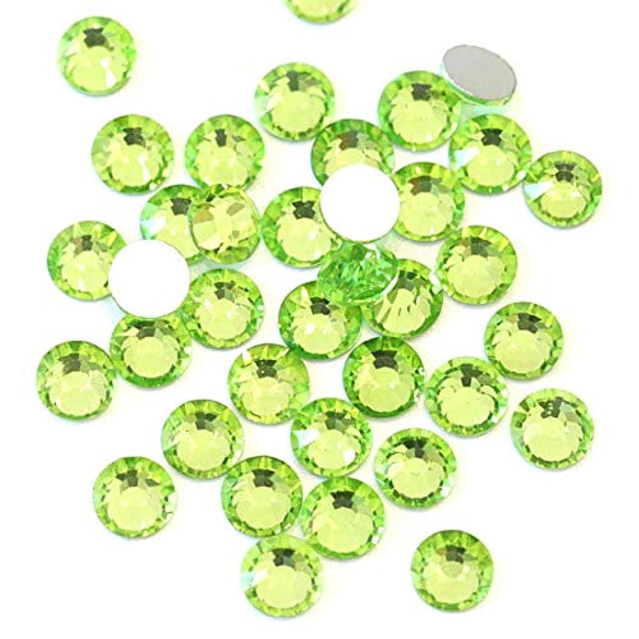 【ラインストーン77】 超高級 ガラス製ラインストーン SS4~SS30 ペリドット スワロフスキー同等 (2.6mm (SS10) 約200粒)