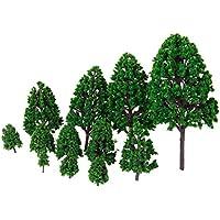 12PCS  模型用 樹木 建築鉄道電車模型 トランクス 高さ1.2 - 6.3インチ