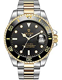 STONE 腕時計 メンズ 夜光 クォーツ時計 日付表示 ファッション 多機能 ステンレス ウォッツ 男性用
