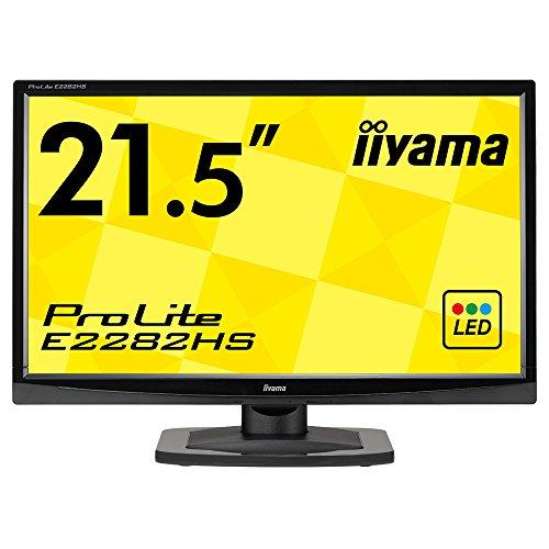 iiyama モニター ディスプレイ E2282HS-GB1 (21.5インチ/フルHD/TN/HDMI,D-sub,DVI-D/3年保証)
