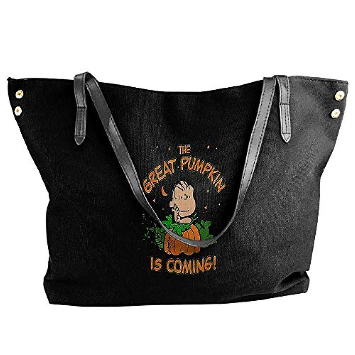 ブルジョン自由ハプニング2019最新レディースバッグ ファッション若い女の子ストリートショッピングキャンバスのショルダーバッグ The Great Pumpkin Is Coming 人気のバッグ 大容量 リュック