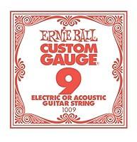 【正規品】 ERNIE BALL 1009 ギター弦 バラ弦 (.009) PLAIN STEEL STRING SINGLE プレーン・スティール・ストリング