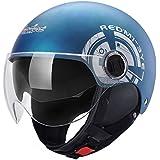 [XINXIKEJI]バイク用ヘルメット 半帽型ヘルメット ダブルシールド フリップアップ オフロード ジェットヘルメット 開閉式シールド アンチショツク 男女兼用 多色展開 四季/通気/UV保護