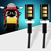 FidgetGear 2Pcs Car Motorcycle Auto Number License Plate Screw Bolt Light 3LED Lamp Light