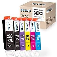 TEINO 互換インクカートリッジ Canon PGI-280XXL CLI-281XXL PGI 280 XXL CLI 281 XXL PIXMA TS9120 TS8220 TS8120 (PGBK、ブラック、フォトブルー、シアン、マゼンタ、イエロー 6個パック)