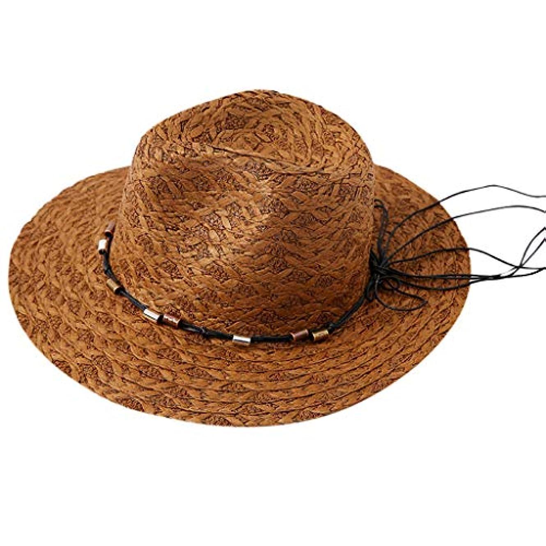 ゴミ小さい麦わら帽子 レディース UVカット ハット つば広 帽子 サイズ調整 テープ ハット 日除け キャップ レディース 小顔効果 紫外線防止 レディース 日よけ 日常用 可愛い ペーパーハット 紫外線対策 日焼け防止 ROSE...