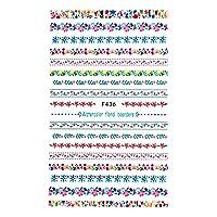irogel イロジェル ネイルシール フローラルラインシール【F436】 花 フラワー 小花柄 花ライン ライン テープ 刺繍