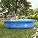電気ポンプが付いているプラ??スチック円形の子供プール、膨脹可能な上のリングプールは子供のために浮かびます、大人の、地上のプールセンターのプール、青 (Size : Diameter 200cm)