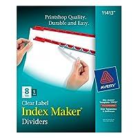 Index Maker Divider w/Color Tabs, Red 8-Tab, Letter, 5 Sets/Pack (並行輸入品)