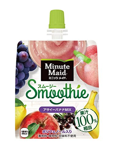 コカ・コーラ ミニッツメイド スムージー アサイーバナナミックス 果汁100%相当 パウチ 160g×6本
