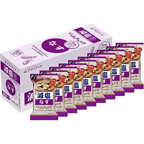 アサヒグループ食品 アマノフーズ 減塩いつものおみそ汁なす ×10袋