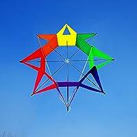 3d Kite Rainbow Flower Shapeアウトドアトイカイト、eye-catchカラー、細工Make It特別な設計でファッションパターン