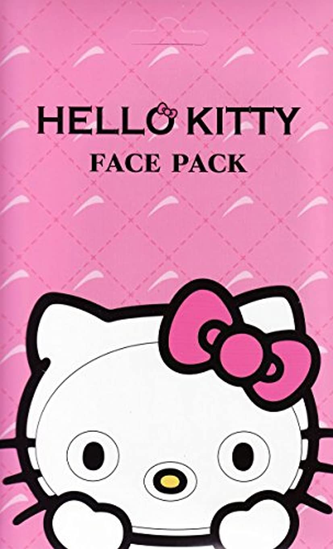 いつも旅気づかないハローキティ なりきりフェイスパック サクラの香り キティになれるフェイスパック