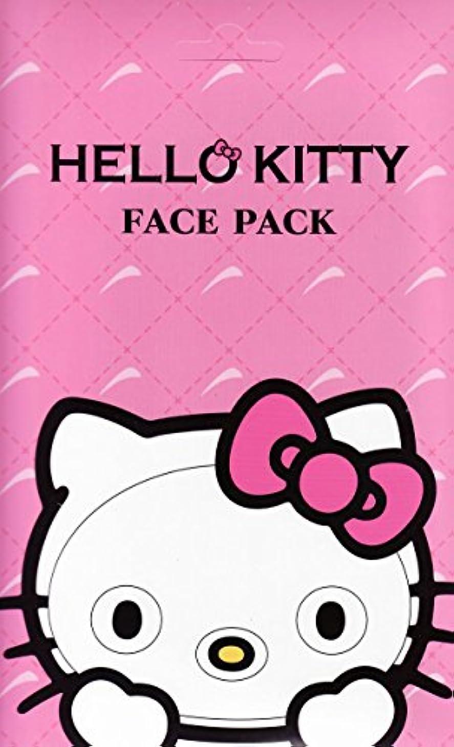 ショートカット進化するオーバーコートハローキティ なりきりフェイスパック サクラの香り キティになれるフェイスパック