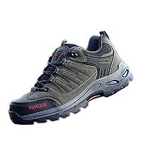 [XINXIKEJI]トレッキングシューズ メンズ レディース ハイキング クライミング ジョギング 通気 吸汗 クッション性 防滑 軽量 心地良い 山歩き/里歩き アウトドア スポーツ 23.5cm グレー