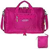 G4Free 折りたたみ ダッフルバッグ 旅行バッグ ボストンバッグ 25L軽量 スポーツ ジム ショピング (ピンク)