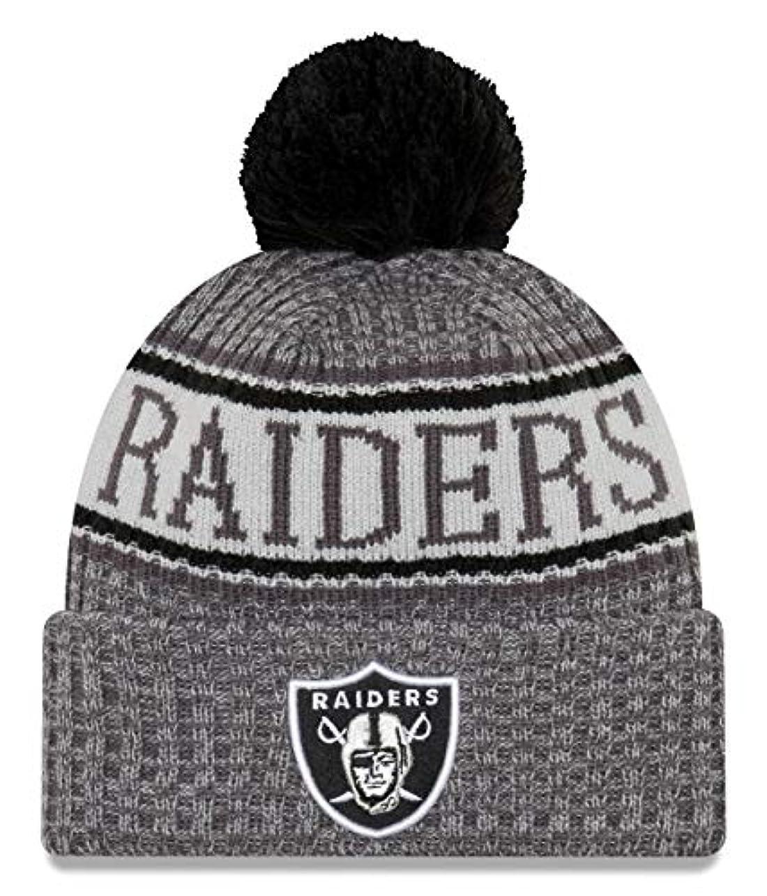 テーブル役職ハロウィンニューエラ (New Era) NFL サイドライン 黒鉛 ビーニー帽 オークランド?レイダーズ (Oakland Raiders)
