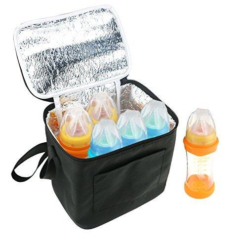Breast Milk Baby Bottle Cooler Bag, Homga Breastmilk Insulated Cooler Tote (Fits up to 240ml Bottles)