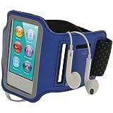 ナイキ ジャパン (アイガジェッツ) iGadgitz Apple iPod Nano 第7世代 16GB 用反射材 滑り止め付きネオプレーン アームバンド ブルー スポーツ ジム ジョギングに最適