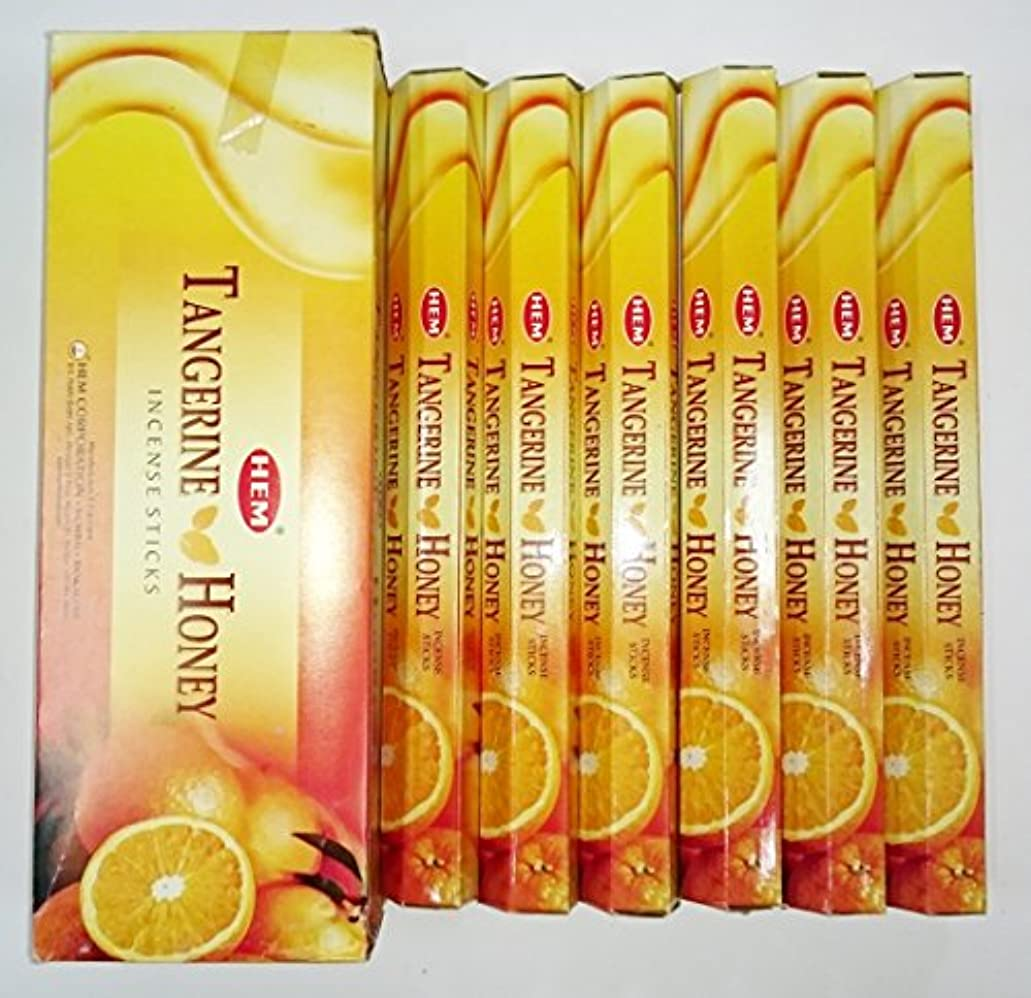 常習的チャネル印象HEM (ヘム) インセンス スティック へキサパック タンジェリンハニー 6角(20本入)×6箱 [並行輸入品]Tangerine Honey