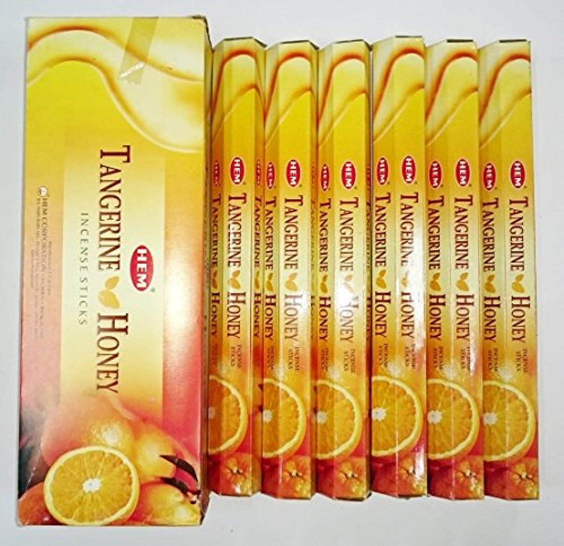 ペデスタル良心的どっちでもHEM (ヘム) インセンス スティック へキサパック タンジェリンハニー 6角(20本入)×6箱 [並行輸入品]Tangerine Honey