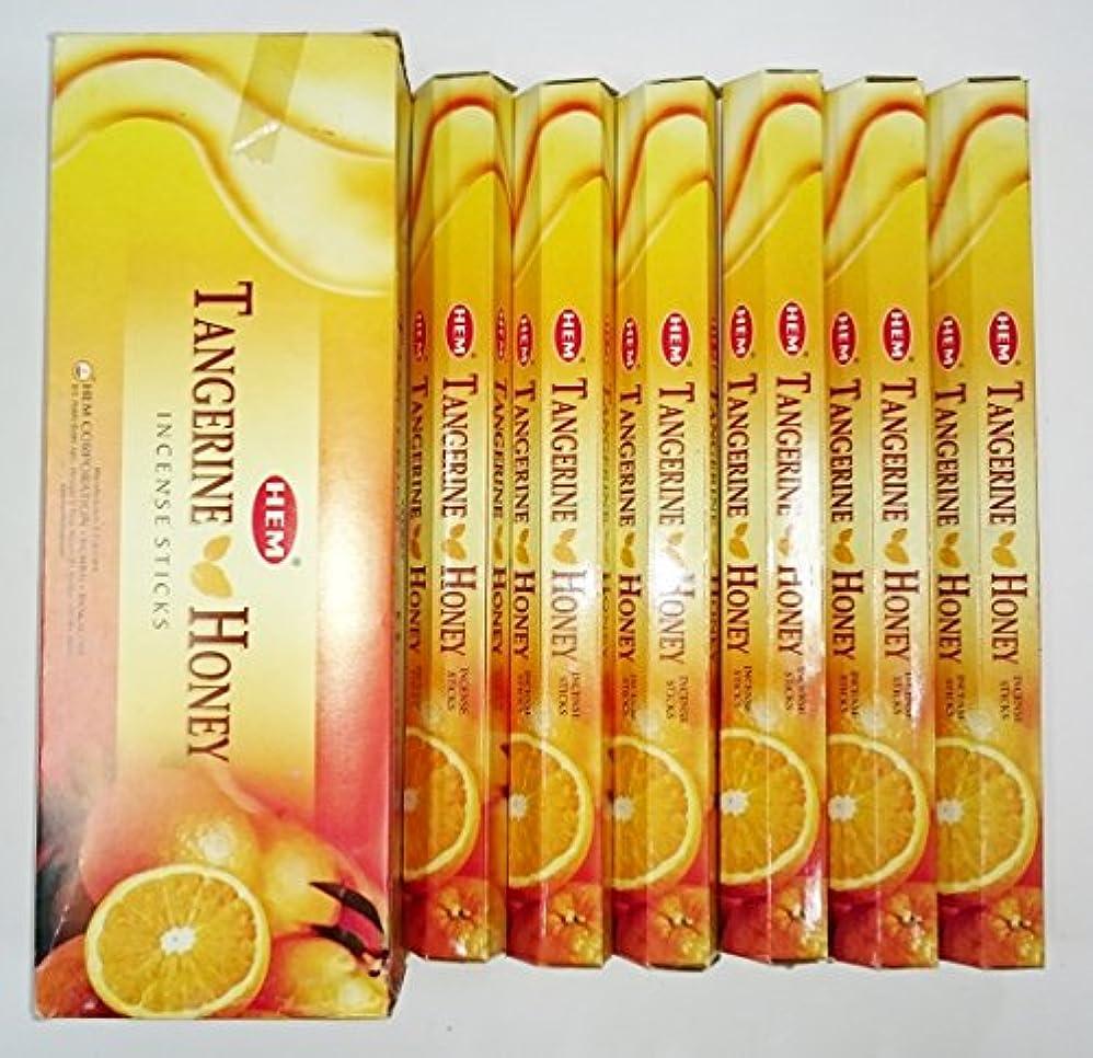 宮殿盗難減少HEM (ヘム) インセンス スティック へキサパック タンジェリンハニー 6角(20本入)×6箱 [並行輸入品]Tangerine Honey