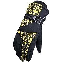 スノーボード手袋暖かい防水スキーグローブメンズサイクリング手袋、H