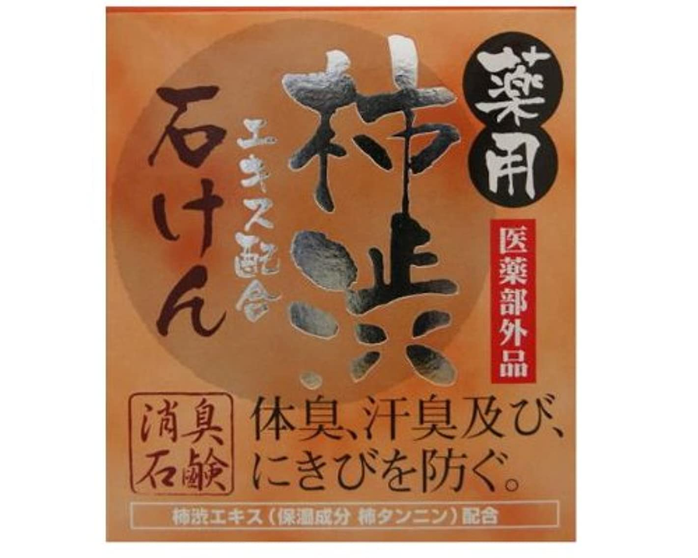 進捗教室倍増薬用柿渋 石けん 100g 【医薬部外品】