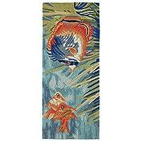 Liora Manne RVLR5225504 2255/04 Tropical Fish Ocean Rugs 24X60 Blue [並行輸入品]