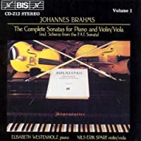 The Complete Sonatas for Piano and Violin/Viola, Volume 1 by JOHANNES BRAHMS (1994-09-22)