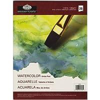"""Essentials Watercolor Artist Paper Pad 9""""X12""""-25 Sheets (並行輸入品)"""