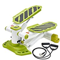 Smiletop ステッパー ダイエット 踏み台 運動 室内運動 上下踏み込み 下半身の筋肉全体を鍛えられる パワーバンド付き