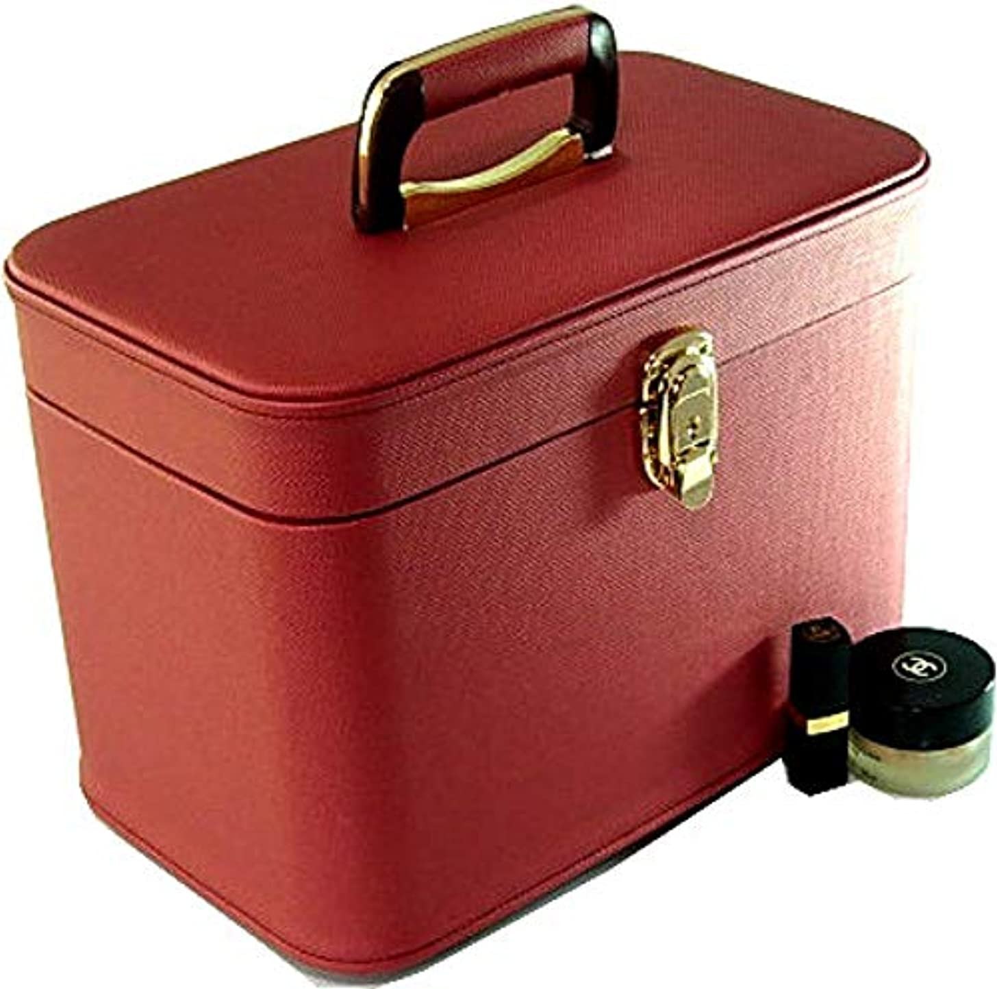 損失車両ゴルフメイクボックス コスメボックス トリプルG2 33cm ヨコパールワイン 日本製,メイクアップボックス,トレンチケース,お化粧入れ,化粧雑貨,メーキャップボックス,化粧箱,かわいい,メイク道具箱,メイク雑貨,化粧ボックス