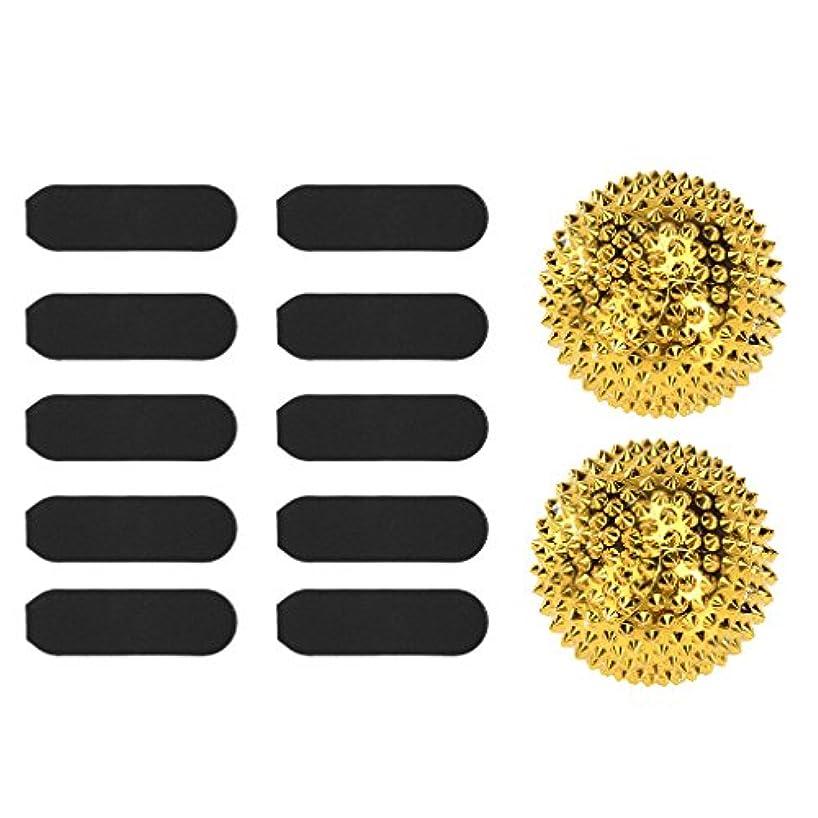 供給液体起こりやすいマッサージ用 刺激 ボール 疲労軽減 + 10枚 サンドペーパー デッド スキン カルス リムーバー ツール