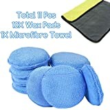 "10PCS 5"" Microfibre Wax Applicator Pads Foam Sponge Car Polish Wax Cleaner"