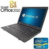 【Microsoft Office2010搭載】【Win 10搭載】東芝 L42/新世代 Core i3 2.4GHz/メモリ4GB/新品SSD 120GB/DVDドライブ/大画面15.6インチ/無線LAN搭載/中古ノートパソコン/