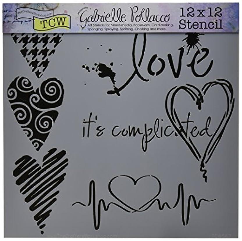 価値のない行進意義Crafters Workshop Complicated Hearts Crafter's Workshop Template 12 by 12 [並行輸入品]