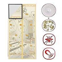 プレミアム 磁気 フライ スクリーン ドア, ヘビーデューティ メッシュのパーティション 網戸, 磁石 カーテン と 完全なフレーム マジックテープ & びょう-d 205x85cm(81x33inch)