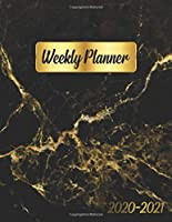 2020-2021 Weekly Planner: Gold Veined Black Marble Two-Year Weekly Daily Planner, Organizer, Calendar and 2 Year Agenda with U.S. Holidays, To-Do List, Inspirational Quotes, +20 Notes Pages and Vision Boards.