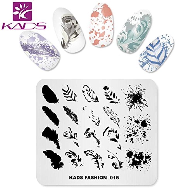 女性撤退特殊KADS ネイルスタンププレート ネイルステンシル ネイルイメージプレート ファッションスタイル … (FA015)