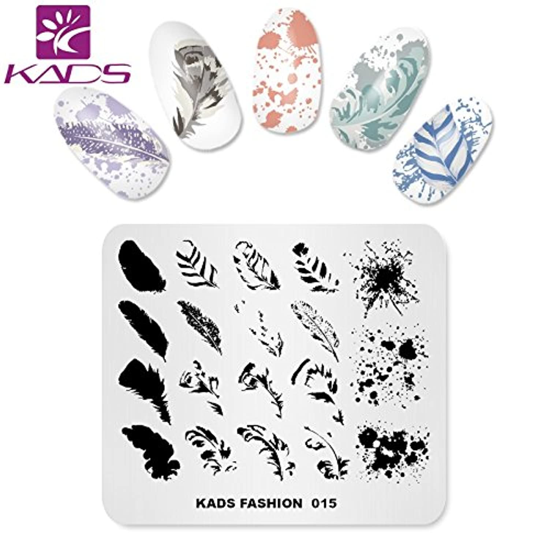 KADS ネイルスタンププレート ネイルステンシル ネイルイメージプレート ファッションスタイル … (FA015)