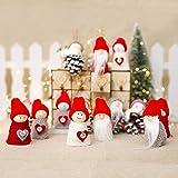 FEELCAT クリスマスツリー飾り 可愛い雪だるま クリスマスオーナメント スノーマン サンタ人形9点セット クリスマスデコレーション 吊り装飾用