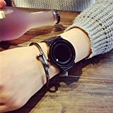 ZooooM シンプル 腕時計 メンズ 男性 フェイクレザー アクセサリー ファッション アナログ (ブラック&ブラック) ZM-TOKE-707-BKBK