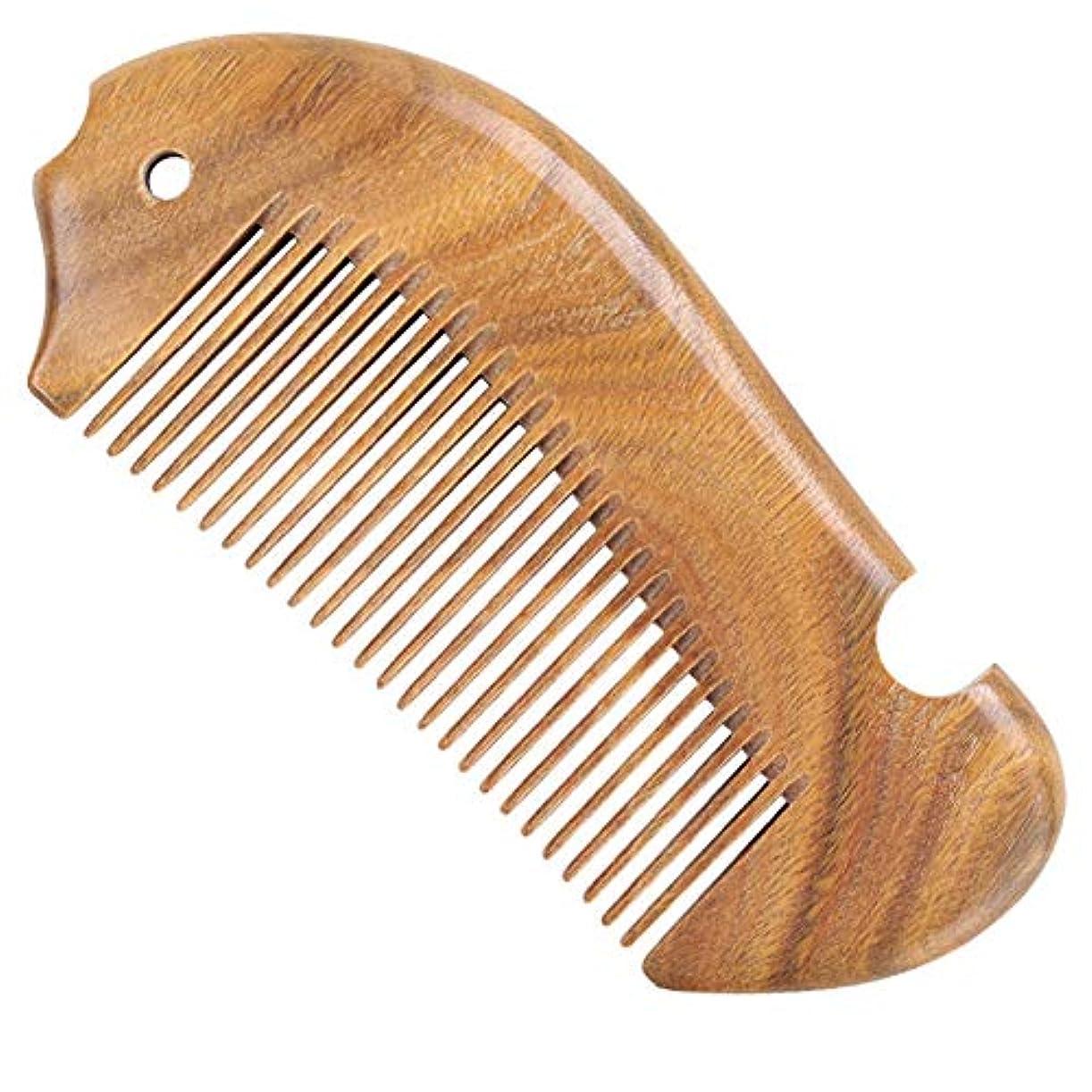 ALIVEON 高級木製櫛 ヘアブラシ つげ櫛 頭皮マッサージ 天然緑檀 ヘアコーム 静電気防止 男女兼用
