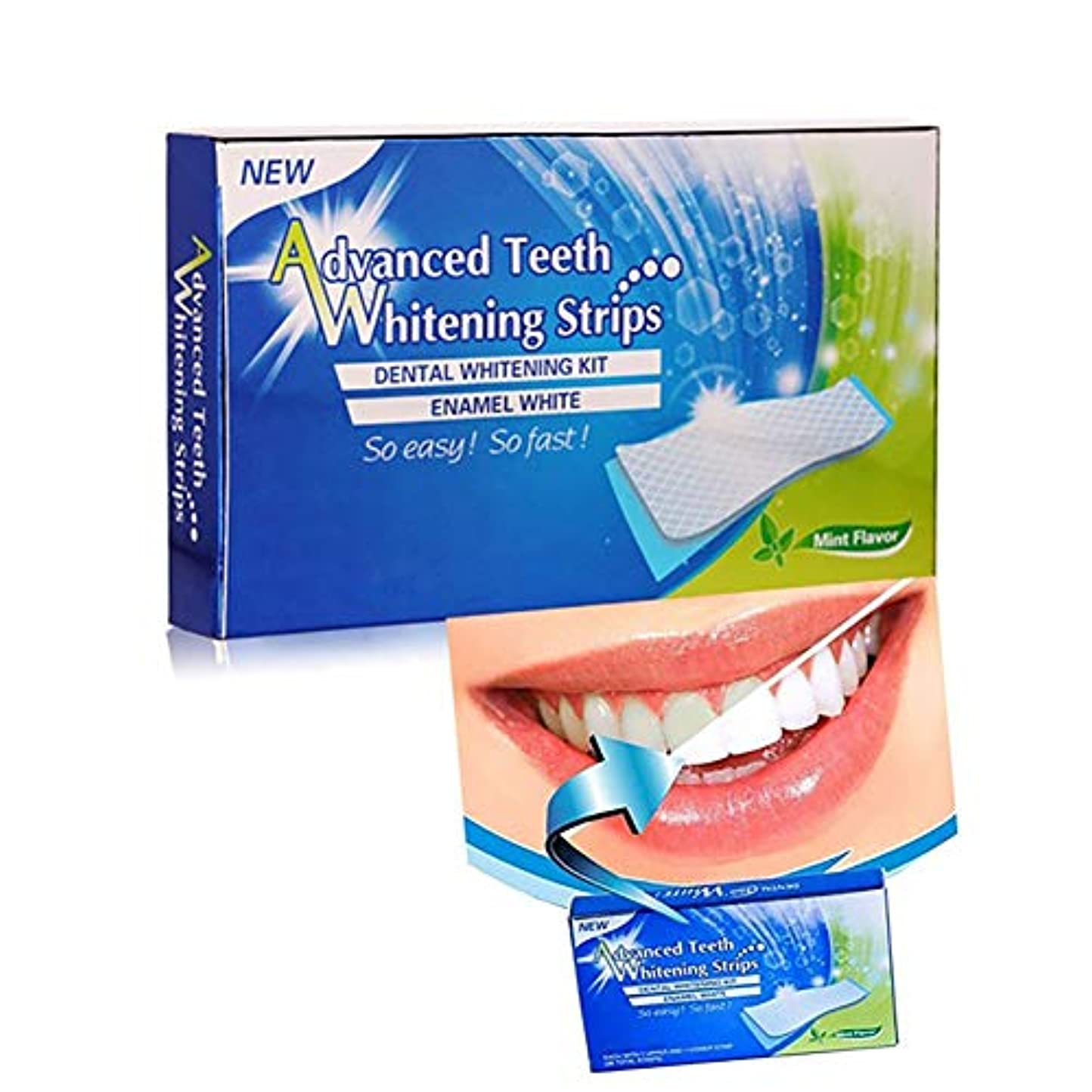 法廷安全なストラップ口腔洗浄器3Dホワイトニング歯磨き粉セット、28回