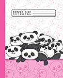 COMPOSITION NOTEBOOK: Funny Kawaii Panda Bears Pink Notebook and Journal with Wide Lined Ruled Paper Pages for Girls and Women, Perfect for Writing Notes and Exercise