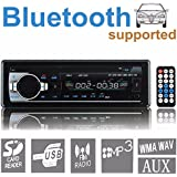 Audew FM Radio Bluetooth Car Stereo Audio MP3 Player USB SD WMA In-dash