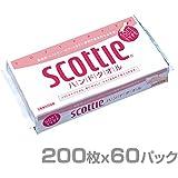 日本製紙クレシア スコッティ ハンドタオル 200枚(100組)×60パック 37745