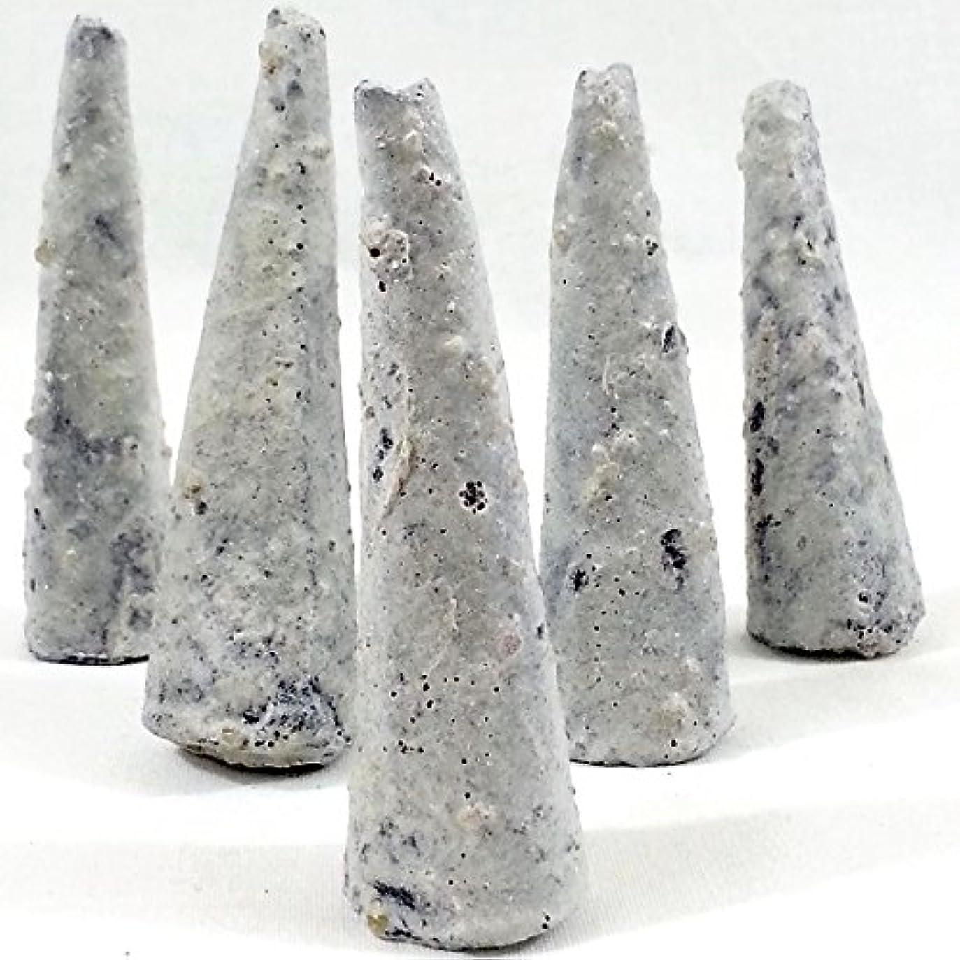 木材ゴミ箱を空にするリブCopal Incense Conesバッグ75の5 Cones = 375コーン、手作りのメキシコ。